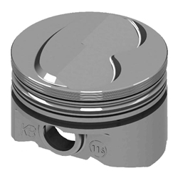 KB Ford 302 Hypereutectic Pistons, .200 Dome, 5.09 Rod