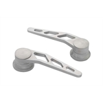 Lokar IDH-2006 Brushed Billet Alum Door Handles, GM Pre-1949, Pair