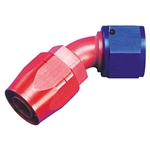 Aeroquip FBM1023 45 Degree Hose End Coupler Fitting, Red/Blue, -8 AN