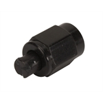 Aluminum Flare Fitting Cap, Black, -4 AN