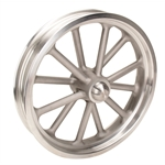Radir 18 x 3 Inch Spindle Mount Wheels, 1937-48 Ford Spindles