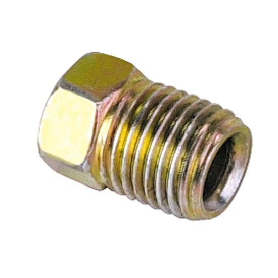 Inverted flare thread nuts for inch tubing