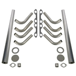 Ford Y-Block 292-312 Lake Style Header Kit, 1-5/8 Tube, 4 Inch Cone