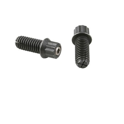 Percys Splitlock Header Bolts - Black Steel, 3/8 x 1 Inch, Set of 16