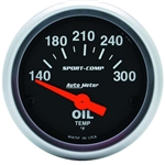 Auto Meter 3348 Sport-Comp Air-Core Oil Temperature Gauge, 2-1/16 Inch