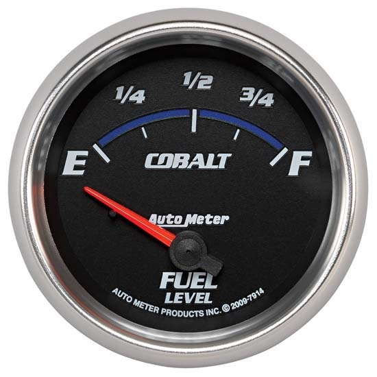 Auto Meter 7914 Cobalt Air-Core Fuel Level Gauge, 2-5/8 Inch