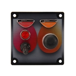 Longacre 44831 Start/Ignition Panel w/WP Switch Covers and Pilot Light