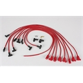 Taylor Cable 76240 8mm Spark Plug Wires-Solid Core-Under Headers-90-Red