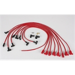 Taylor Cable 76240 8mm Spark Plug Wires-Solid Core-Under Headers-90°-Red