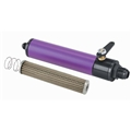 Purple Fuel Filter with Shut-Off, 10 Inch, -10 AN