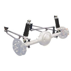 Deluxe Shockwave Rear Suspension Kit, Chrome, 13 Inch Ride Height