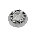Murray Pedal Car Parts, Starburst Hubcap, 3-3/8 Inch O.D., Chrome Plastic