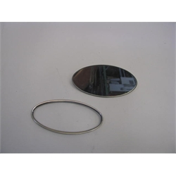 Garage Sale - Stainless Steel Oval Interior Mirror