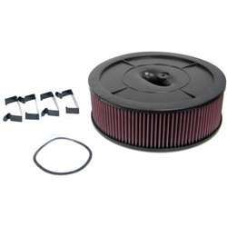 Garage Sale - K&N Filters 61-2020 Flow Control Air Cleaner-Holley 2BBL no Choke Horn