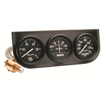 Auto Meter 2393 Auto Gage Mechanical 3 Gauge Console, Oil/Amp/Water