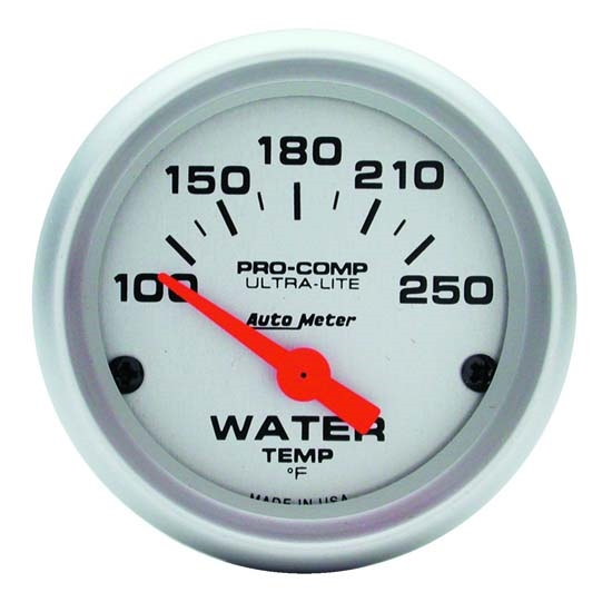 Auto Meter 4337 Ultra-Lite Air-Core Water Temperature Gauge, 2-1/16 In