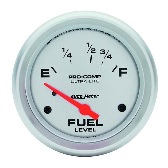 Auto Meter 4418 Ultra-Lite Air-Core Fuel Level Gauge, 2-5/8 Inch