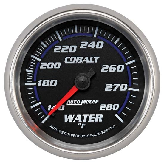 Auto Meter 7931 Cobalt Mechanical Water Temperature Gauge, 2-5/8 Inch