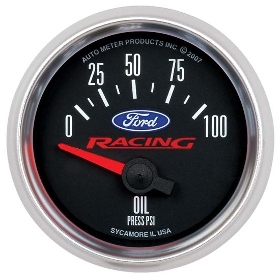 Auto Meter 880076 Ford Racing Air-Core Oil Pressure Gauge, 2-1/16 Inch