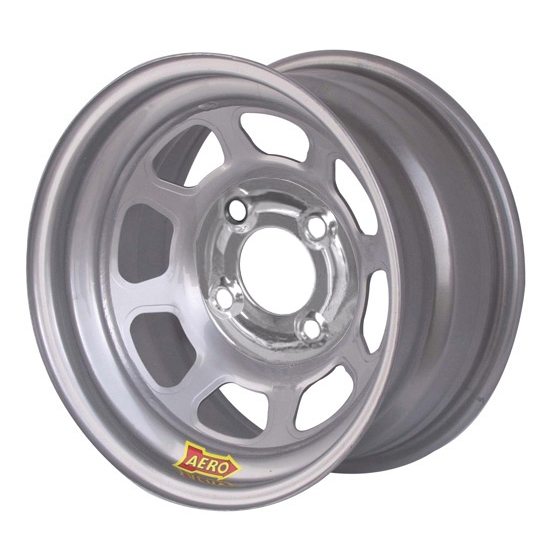 Aero 55-084210 55 Series 15x8 Wheel, 4-lug, 4 on 4-1/4 BP, 1 Inch BS