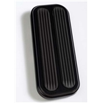 Lokar XBAG-6182 Midnight Series 66-77 Bronco Throttle Pedal Pad w/Rub