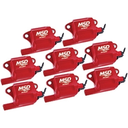 MSD 82878 Multiple Spark Plug Coil for LS2, LS3, LS7 Engines, 8-Pack
