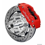 Wilwood 140-10510-DR DP6 12.19 Inch Front Brake Kit, 1967-72 GM, Red