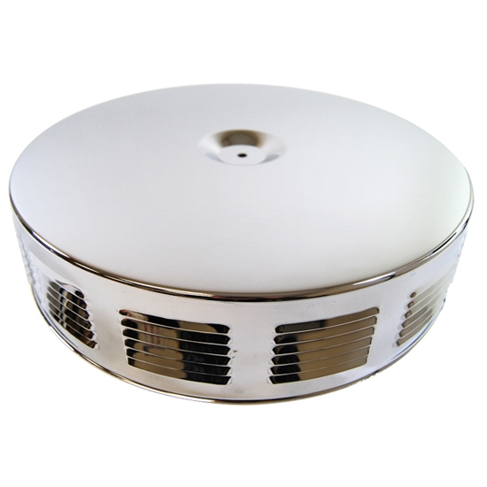 16 Inch Air Cleaner : Inch louvered corvette gto style air cleaner
