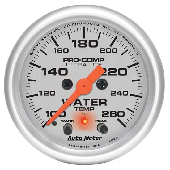 Auto Meter 4354 Ultra-Lite Digital Stepper Motor Water Temp Gauge