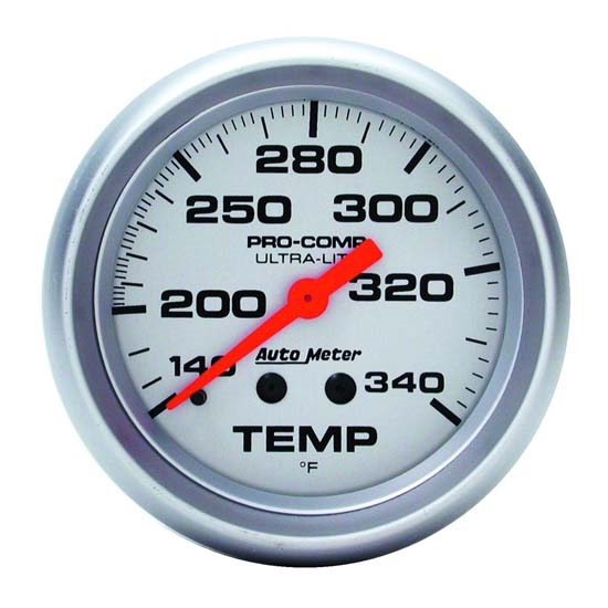 Auto Meter 4435 Ultra-Lite Mechanical Temperature Gauge, 2-5/8 Inch