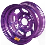 Aero 51-905020PUR 51 Series 15x10 Wheel, Spun 5 on 5 Inch, 2 Inch BS