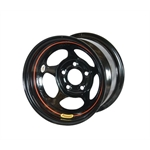 Bassett 58A51W 15X8 Inertia 5 on 5 1 In Backspace Wissota Black Wheel