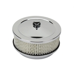 6-3/8 Inch Chrome Air Cleaner, 4 Barrel Carb, 5-1/8 Inch Neck