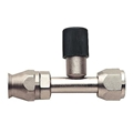 Straight Nickel Plated AC Fitting w/Port, -10 AN to -10 AN