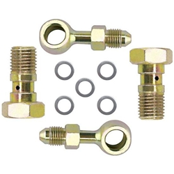 Banjo Brake Fitting Kit, 10mm-1.5 to -3 AN