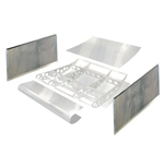 HRP VFT6550-200 Sprint Dish Wing Standard Side Boards, 2-1/2 Inch Dip