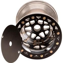 Micro Sprint Wheel, 11 X 5 Inch with Beadlock, Black