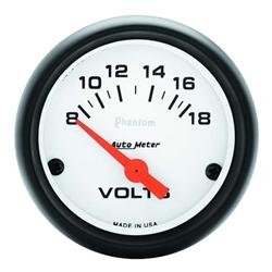 Garage Sale - Auto Meter 5791 Phantom Air-Core Electric Voltmeter Gauge, 2-1/16 Inch