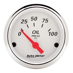 Auto Meter 1327 Arctic White Air-Core Oil Pressure Gauge