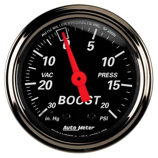 Auto Meter 1472 Designer Black Mechanical Boost/Vacuum Gauge