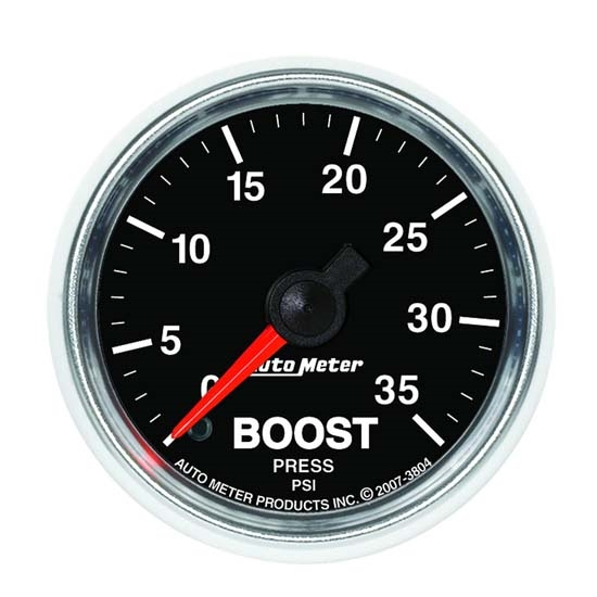 Auto Meter 3804 GS Mechanical Boost Gauge, 2-1/16 Inch, 35 PSI