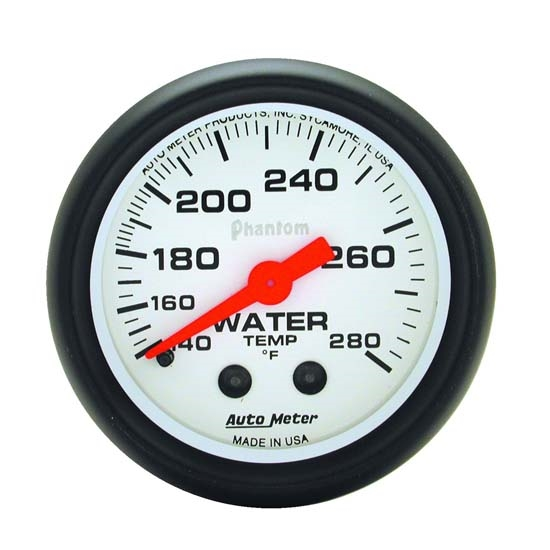 Auto Meter 5731 Phantom Mechanical Water Temperature Gauge, 2-1/16 In.