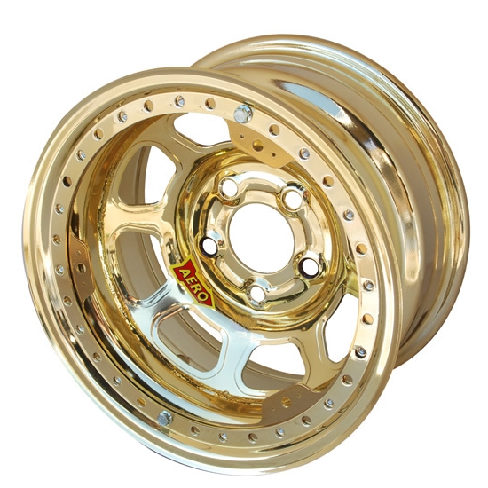 Aero 53-924520GOL 53 Series 15x12 Wheel, BLock, 5 on 4-1/2, 2 Inch BS