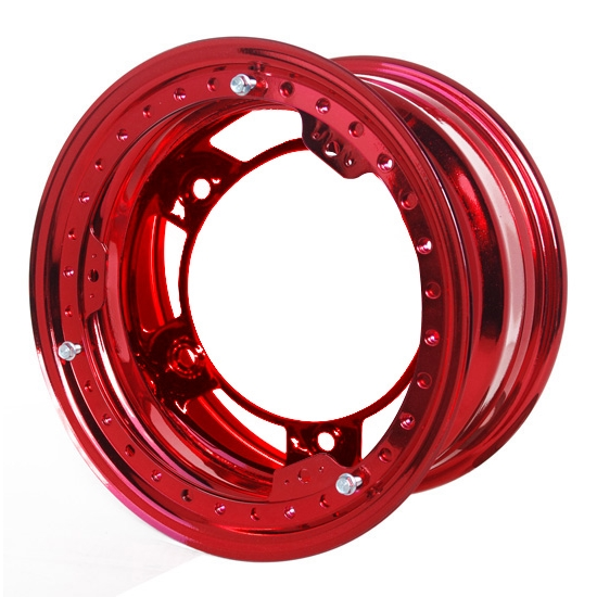 Aero 53-980520RED 53 Series 15x8 Wheel, BL, 5 on WIDE 5 BP, 2 BS, IMCA