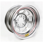 Bassett 58DF4WS 15X8 D-Hole 5on4.5 4 In Backspace Wissota Silver Wheel
