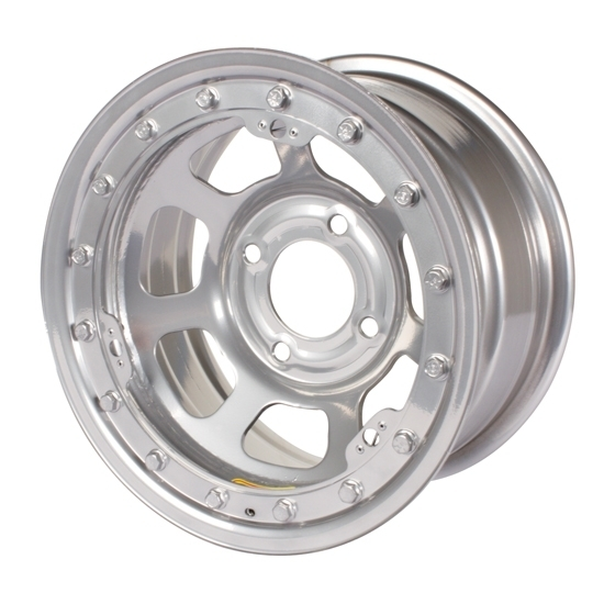 Bassett 58DH3SL 15X8 D-Hole 4 on 100mm 3 Inch BS Silver Beadlock Wheel