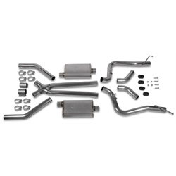 Hooker 42505HKR Header Back Exhaust System, Stainless Steel, 2.5 Inch