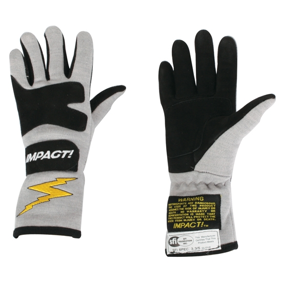 Garage Sale - Impact Racing JG4 Junior Racing Gloves - Titanium