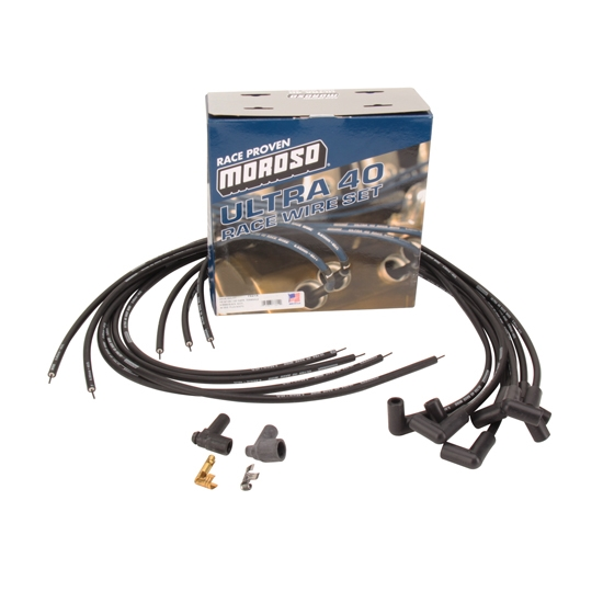 Moroso Ultra 40 Low Resistance Racing Spark Plug Wires, 90 Degree