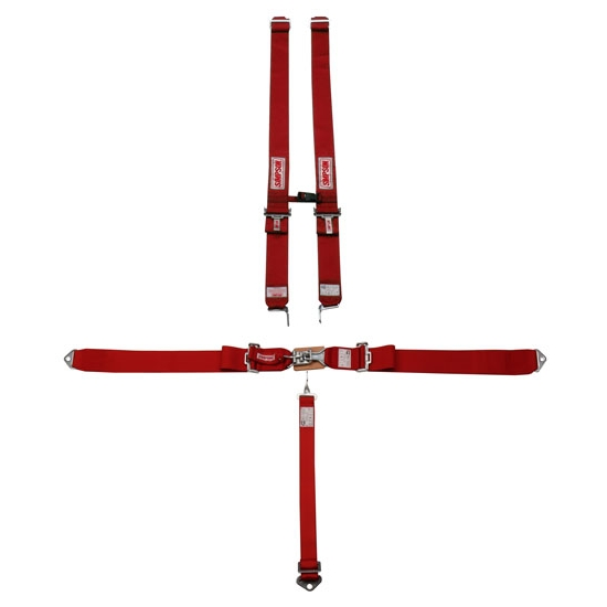 Simpson 5-Point Harness With Sternum Protector, Bolt-In, Pull Down